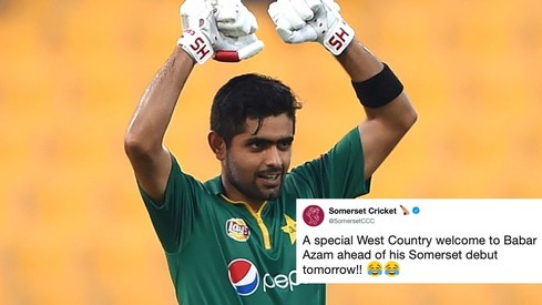 Babar Azam gets a whimsical welcome ahead of his Somerset debut