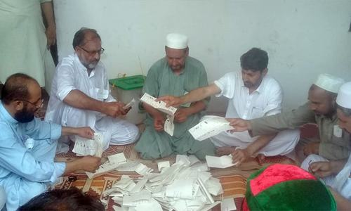 Polling time ends, vote count underway in first-ever election in KP's merged tribal districts