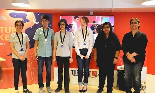 50 youngsters aged between 10-16 pitch tech ideas at Karachi's first Startup Weekend Youth