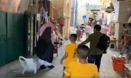 اسرائیل کا دورہ کرنے والے سعودی بلاگر پر فلسطینی نوجوانوں کے غم و غصے کی ویڈیو وائرل