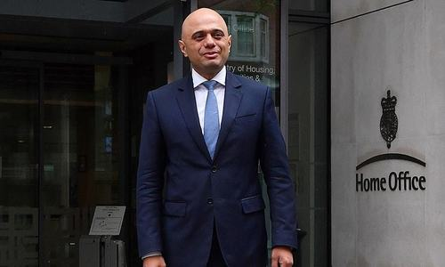 Sajid Javid named UK treasury chief