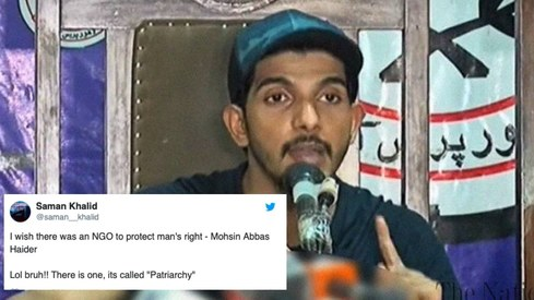 So Mohsin Abbas Haider is a men's rights activist now?