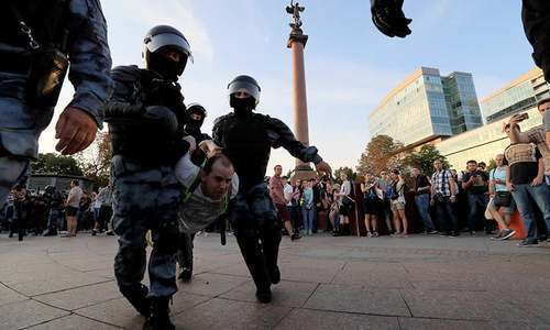 Moscow police arrest hundreds at banned rally for fair elections