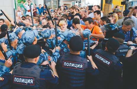 Moscow police arrest hundreds at rally for fair elections