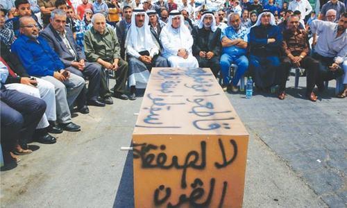 US peace plan rings alarm bells in Jordan