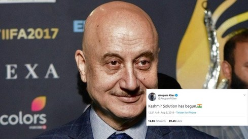 Twitter is not okay with Anupam Kher calling the Kashmir situation a 'solution'