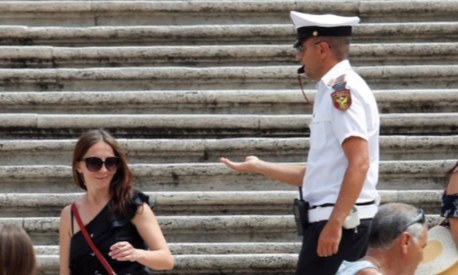 Tourists have been banned from sitting on Rome's famous Spanish Steps