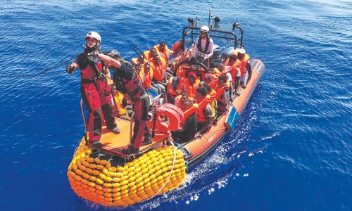 Over 500 rescued migrants stuck on two NGO boats