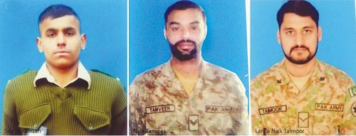 Three soldiers, two civilians martyred in Indian shelling
