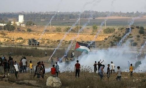 اسرائیلی فوج کی فائرنگ سے ایک فلسطینی جاں بحق، 30 سے زائد زخمی