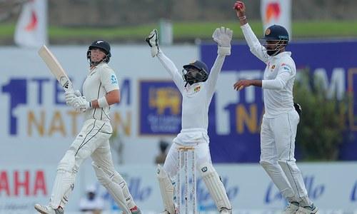 پہلا ٹیسٹ: نیوزی لینڈ کی سری لنکا کے خلاف 177 رنز کی برتری