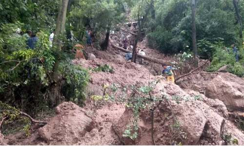 آزاد کشمیر میں لینڈ سلائیڈنگ سے 7 افراد جاں بحق