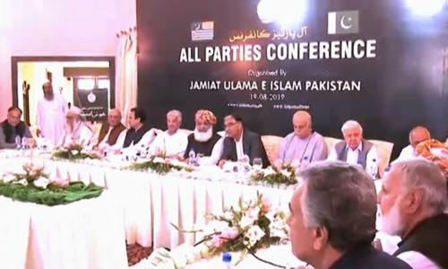 Opposition parties hold multi-party conference on Maulana Fazlur Rehman's call