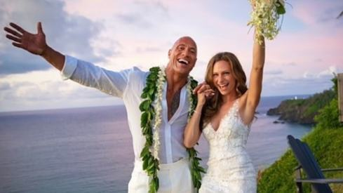 The Rock is now officially married