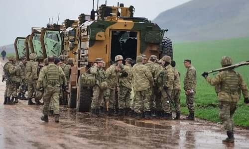 شام میں ترک فوجی قافلے پر فضائی حملہ، 3 افراد ہلاک