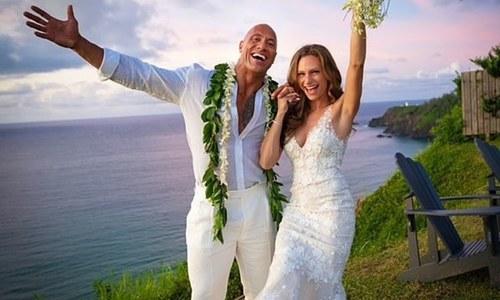 'دی راک' دوسری بار شادی کے بندھن میں بندھ گئے