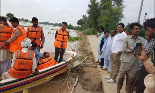 Scores of people evacuated in Kasur because of flooding in Sutlej