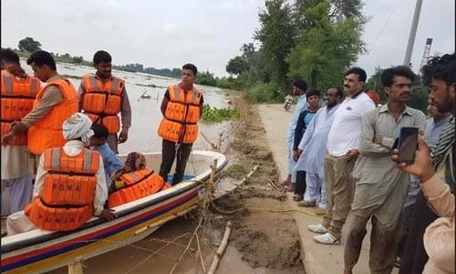 Scores of people evacuated in Kasur because of flooding in Sutlej