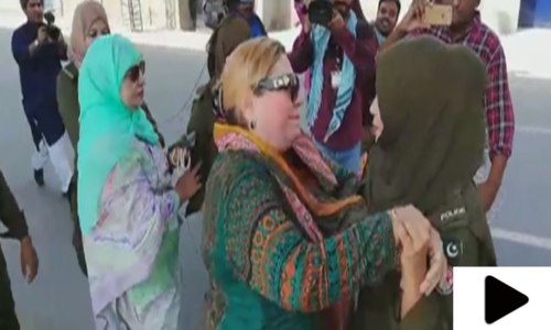 مریم نواز کی پیشی پر خواتین لیگی کارکنان کی پولیس سے تلخ کلامی، ہاتھا پائی