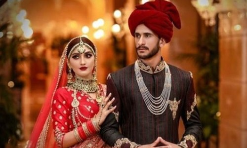 کرکٹر حسن علی کی شادی کے چند خاص لمحات