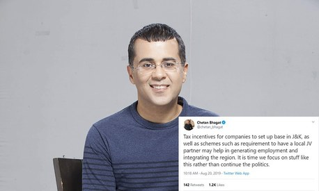 Did Chetan Bhagat just reduce mass detentions in occupied Kashmir to a math problem?