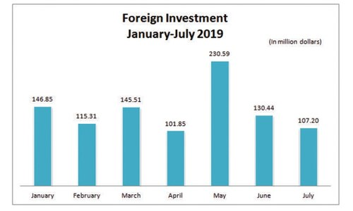 Foreign investment down 22pc