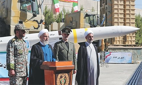 Tehran displays domestically built missile system