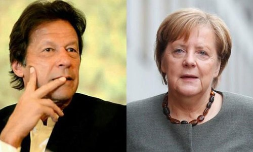 PM Imran, German Chancellor Merkel discuss occupied Kashmir situation