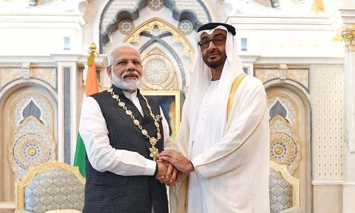 متحدہ عرب امارات نے بھارتی وزیراعظم کو اعلیٰ ترین سول ایوارڈ سے نواز دیا