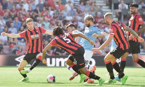 Aguero scores brace as City win at Cherries
