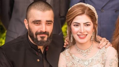 Hamza Ali Abbasi and Naimal Khawar's hand-holding at their valima was too precious