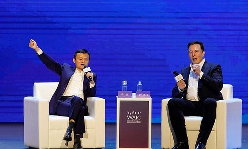 Tesla's Musk, Alibaba's Ma talk aliens and AI, skip issues like trade