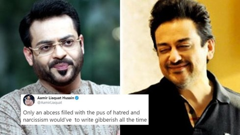 So Adnan Sami and Amir Liaquat are feuding on Twitter and it's not pretty