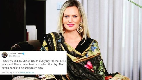 Medical waste is washing up on Seaview beach and Shaniera Akram has proof