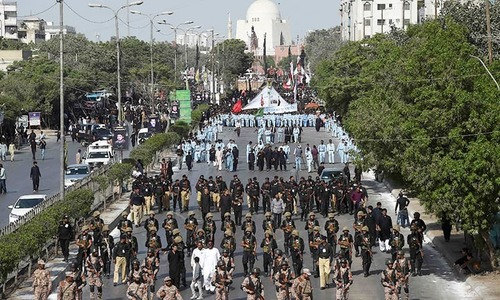 Security, traffic plans followed to ensure smooth execution of Muharram 9 procession