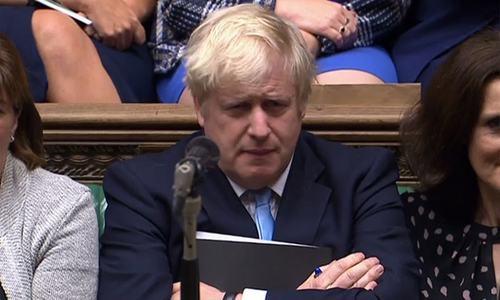 Outgoing parliament deals new Brexit blow to British PM Johnson
