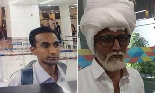 جوان شخص بوڑھا بن کر امریکا جانے کی کوشش میں گرفتار