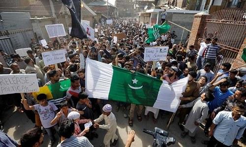 '5 اگست کے بعد سے مقبوضہ کشمیر میں 722 احتجاجی مظاہرے ہوئے'