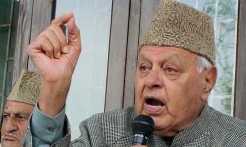 مقبوضہ کشمیر کے سابق وزیراعلیٰ فاروق عبداللہ 'متنازع قانون' کے تحت گرفتار