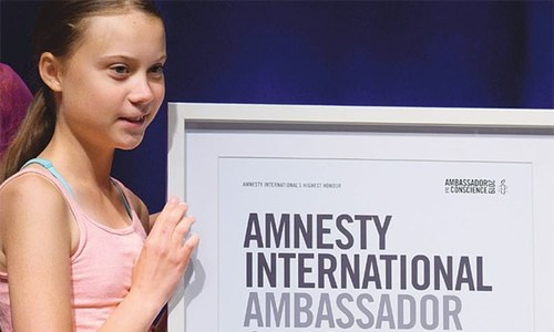 Thunberg wins Amnesty's highest human rights award