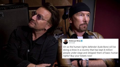 Rock band U2 may have just lost some fans for announcing a concert in India