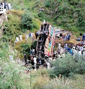 Five die as truck falls into ravine