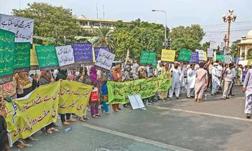 Cancer patients in Lahore protest denial of free drugs