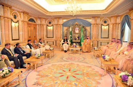 Delegations of both countries during a meeting in Jeddah on Thursday. — PM Office