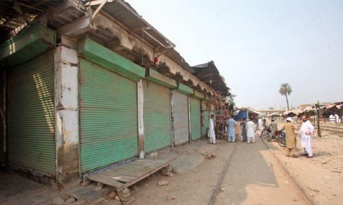 PR admin seals illegal shops in Peshawar