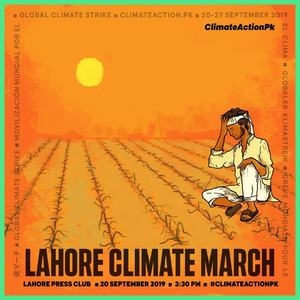 One of the many posters prepared by ClimateActionPK for the climate march.