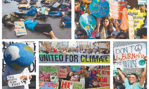 Students skip classes to teach leaders climate lesson
