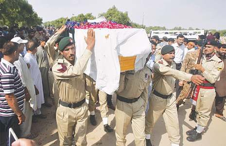 Martyred major laid to rest