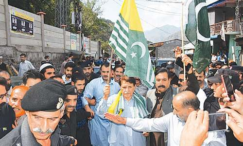 AJK people desperate to back brethren across LoC, says Haider