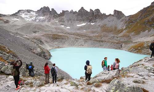 'It's like the dying of a good friend': Climate activists hold event to mark vanishing Swiss glacier